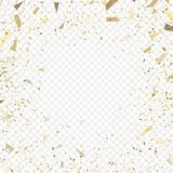 Flying christmas confetti, anniversary celebration, happy birthday party. Vector background Stock Images