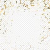 Flying christmas confetti, anniversary celebration, happy birthday party. Vector background Stock Image