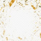 Flying christmas confetti 2018, anniversary celebration, happy birthday party. Vector background Royalty Free Stock Image
