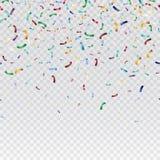 Flying christmas confetti, anniversary celebration, happy birthday party vector background.  Royalty Free Stock Photography