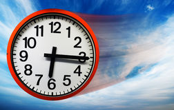 Flying clock Royalty Free Stock Photography