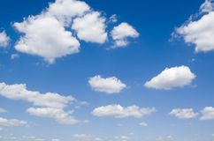 Flying cloud stock image