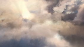 Flying through the clouds stock video footage