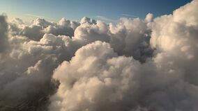 Flying through clouds