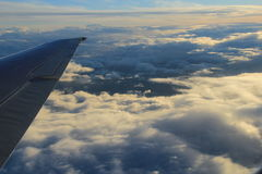 Flying In Clouds Royalty Free Stock Images