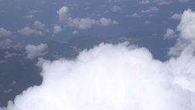 Flying through clouds stock video