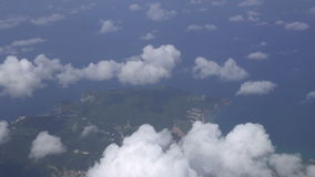 Flying through clouds stock video footage