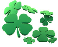 Flying clovers Stock Images