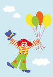 Flying clown Royalty Free Stock Photo