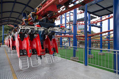 Flying Coaster seat in station Royalty Free Stock Photos