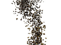 Flying coffee beans with dof and minimal motion blur Stock Photos