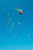 Flying color balloons Stock Photo