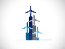 Flying color planes illustration design Stock Photo