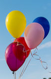 Flying colorful balloons Stock Images