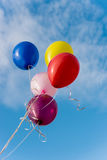 Flying colorful balloons Royalty Free Stock Photo