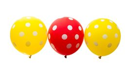 Flying colorful balloons isolated Stock Photography