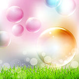 flying colorful bubbles Stock Images