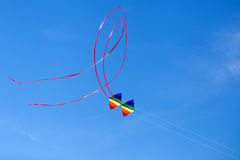 Flying colorful kites Royalty Free Stock Photo