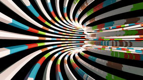 Flying through a colorful tunnel. Abstract 4K video background stock video