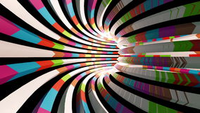 Flying through a colorful tunnel. Abstract 4K video background stock footage