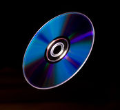Flying compact disk Stock Photography