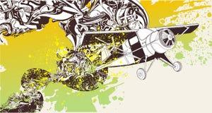 Flying concept illustration Stock Photo