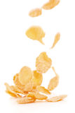 Flying corn flakes Stock Images