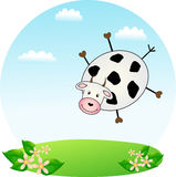 Flying cow Royalty Free Stock Photo
