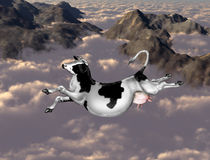 Flying cow Royalty Free Stock Image