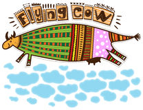 Flying cow Royalty Free Stock Photos