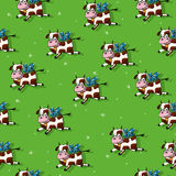 Flying cows pattern Royalty Free Stock Images