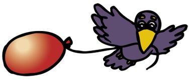 Flying crow Stock Image