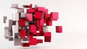 Flying cubes animation background