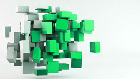 Flying cubes animation background stock video