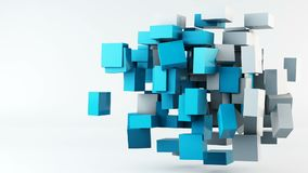 Flying cubes animation background stock video footage