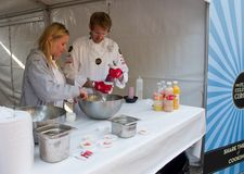The Flying Culinary Circus at marathon , Oslo Royalty Free Stock Photography