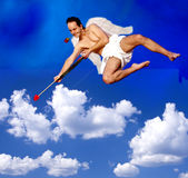 Flying Cupid Stock Image