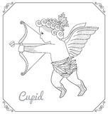 Flying Cupid With Arch Cartoon Stock Images