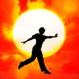 Flying dance Stock Image