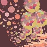 Flying dandelions Stock Image