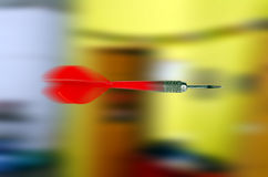 Flying dart in motion Royalty Free Stock Images