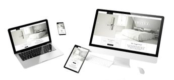 flying devices grand hotel responsive website Royalty Free Stock Photos