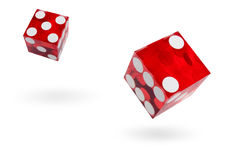 Flying dice Royalty Free Stock Image