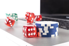 Flying Dices Royalty Free Stock Photo