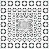 Black-and-White pattern of octagons. Royalty Free Stock Images