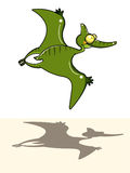 Flying dinosaur. Digital illustration representing a flying dinosaur Stock Photography
