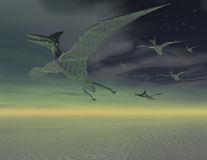 Flying dinosaurs Royalty Free Stock Photo