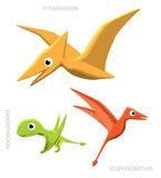 Flying Dinosaurs Vector Illustration Stock Photo