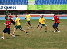 Flying Disc Competition - Australia versus England Stock Photography
