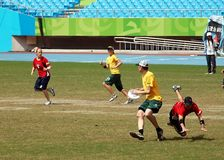Flying Disc Competition - Australia versus England royalty free stock images